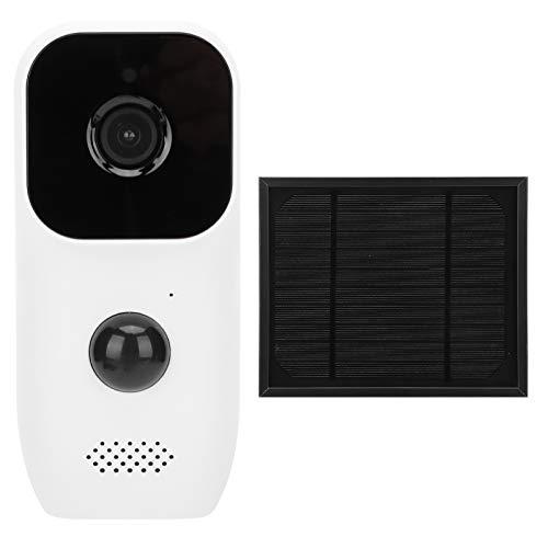 KUIDAMOS Cámara de Seguridad WiFi Cámara Solar 1080P con intercomunicador bidireccional para Seguridad en el hogar