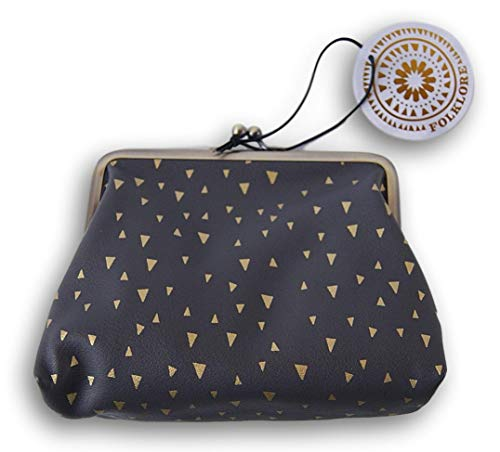 Folklore Make Up Bag - Classy Black and Gold - 6.5 x 5 Inches