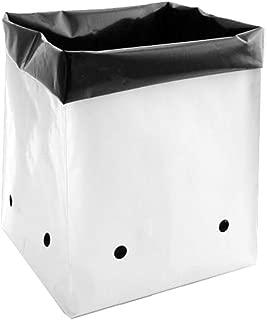 Hydro Crunch D94002111-100PC 1/2 Gal. B&W PE Grow Bag Set (100-Pack), Black/White