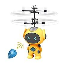 Toynspring ロボットドローン 飛行おもちゃ ミニロボット ジェスチ...