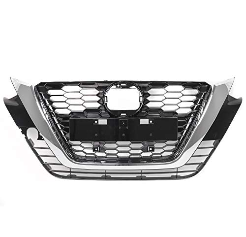 ZMAUTOPARTS OE Style Front Bumper Upper Hood Grille Grill Black/Chrome Trim Compatible with 2019-2021 Altima