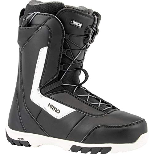 Nitro Snowboards Herren Sentinel TLS '20 All Mountain Freestyle Schnellschnürsystem günstig Boot Snowboardboot, 29.5, BLACK