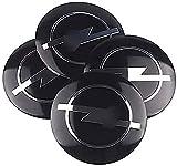 Tapacubos de 56 mm, tapacubos con logotipo a prueba de agua y polvo, tapacubos de aleación de aluminio con logotipo automotriz, para Opel Astra H G J Corsa Insignia Antara Meriva Zafira