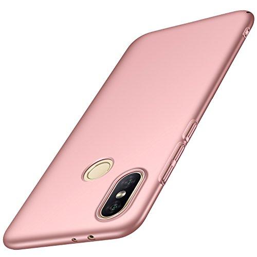 Anccer Funda Xiaomi Mi 6X / Xiaomi Mi A2, Ultra Slim Anti-Rasguño y Resistente Huellas Dactilares Totalmente Protectora Caso de Duro Cover Case (Oro Rosa Liso)