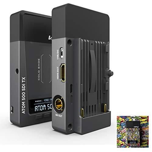 Vaxis Atom 500 - Sistema de transmisión de vídeo inalámbrico SDI HDMI doble interfaz para cámara réflex digital HD teléfono móvil APP Monitoreo (Vaxis ATOM 500 SDI Version)