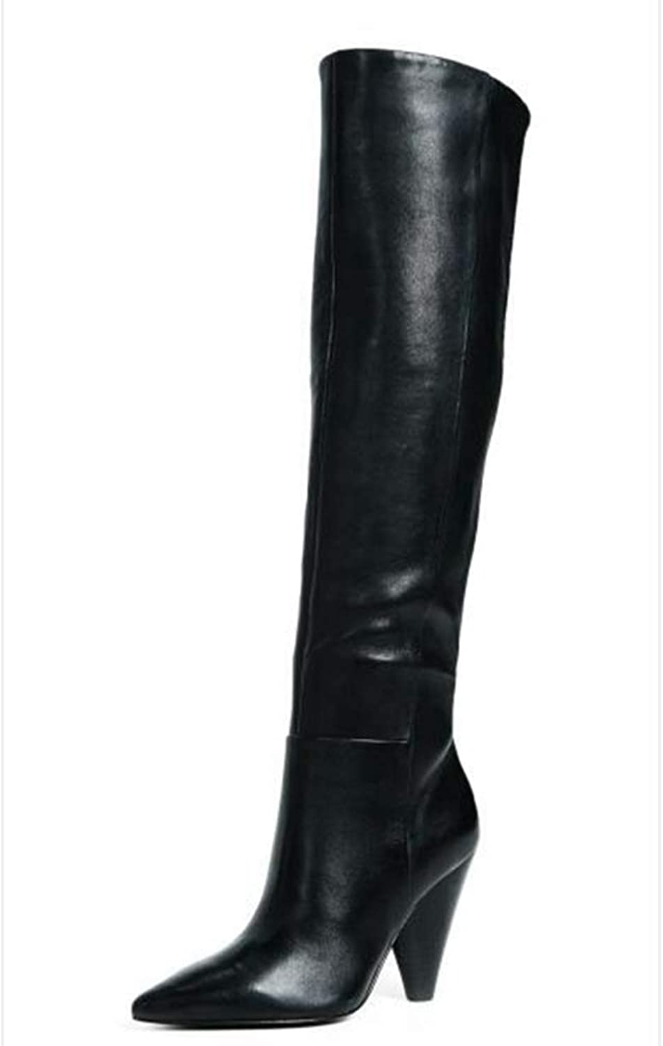 T-JULY Fashion Sexy High Heel Knee High Autumn Winter Female Lady Women Boots
