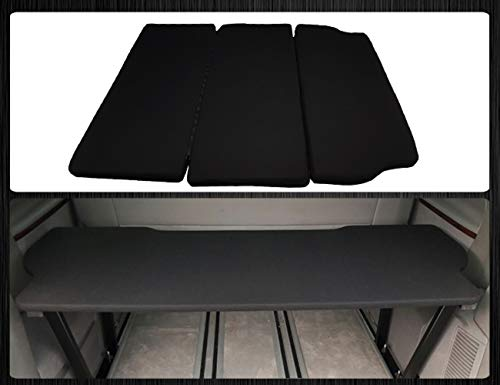 BREMER SITZBEZÜGE Multiflexboard Inkl. Matratze Bettverlängerung kompatibel mit VW T5 & T6 Multivan UniSchwarz