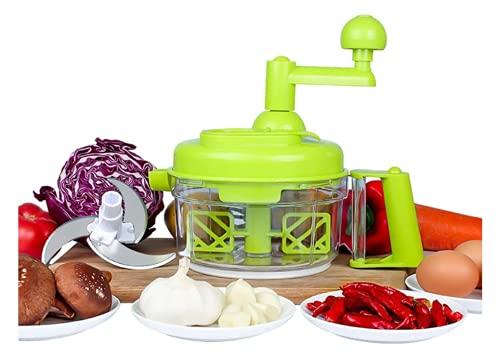 Pullan Küchenhelfer Handkurbel-Küchenmaschine, Fleischwolf/Gemüseschneider und Fleischwolf/Obstmixer mit Eiertrenner