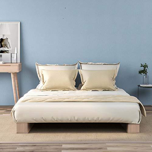 Jawneny Hochwertiger Bett Bettgestell Holzbettrahmen Bed aus Holz Plattformbett Doppelbett...