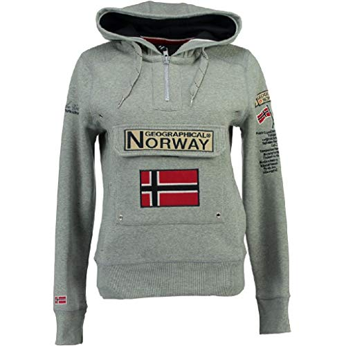 Geographical Norway - Felpa da donna GYMCLASS grigio melange XL