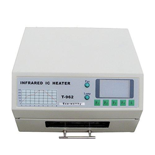 ECO-WORTHY T962 220V Infrarot Löt-BGA IC Heizer Reflow Ofen Schubladen 180 × 235MM 800 Watt