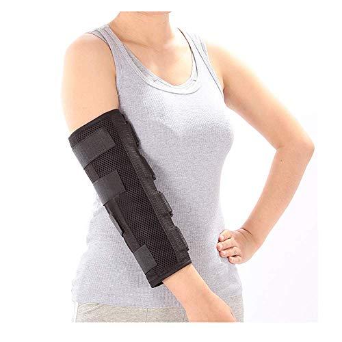 GHzzY Ellbogenschienenorthese für Kubitaltunnelsyndrom, Frakturen, Verletzungen und Sehnenentzündung - Adults Arm Elbow Immobilizer, Ulnar Nerve Splint,M