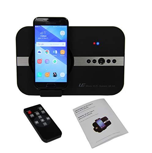 STElectronic 10 Watt Bluetooth Lautsprecher USB-C für Huawei P30 Pro Mate 9 Nova Plus Huawei P9 Plus P10 Mate 20 X Mate 10 P20 Flexible Schnittstelle und Bluetooth Fernbedienung So&system - schwarz