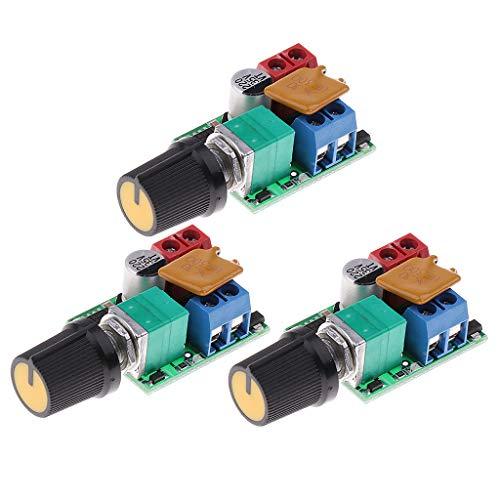 B Blesiya Variateur LED de Contrôle de Vitesse Moteur PWM Interrupteur LED Gradateur - 3 pièce
