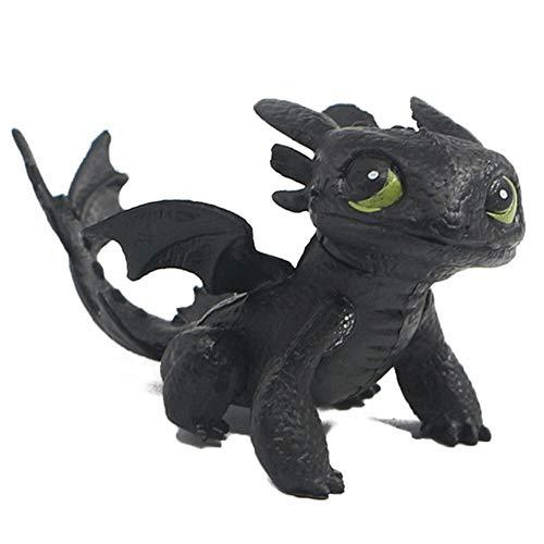 MINGZE Dragons, como Entrenar a tu dragón, Q Versión Muñeca sin Dientes Nightingale, Adulto Niños Juguete Adornos de Personajes de Dibujos Animados (A)