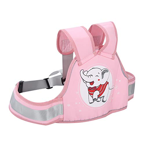AMONIDA Universeller multidirektional Verstellbarer, atmungsaktiver Sicherheitsgurt Sicherheitsgurt Riemen Elektroautos Kinder(Four Seasons Pink Elephant Seat Belt)