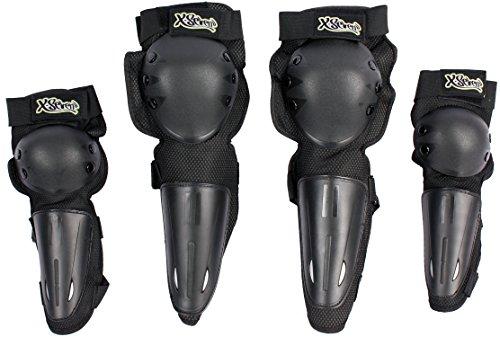 X-Seven 4er Set Erwachsenen-Protektoren für MTB, Fahrrad, Skaten Größe M/L