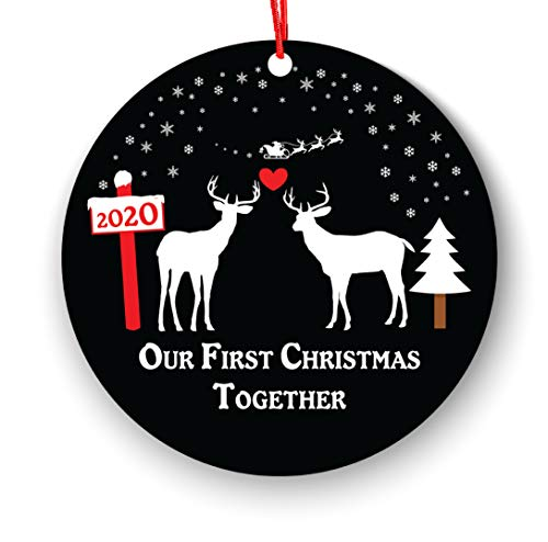 Our First Christmas Together Ornament, Lover Lesbian Gay, Same Sex, First Christmas as Mrs & Mrs Ornament 2018, 1st 2nd Christmas Ornament First, Pride Couple Christmas Deer