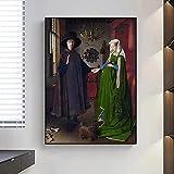 Giclee Wall Van Eyck Arnolfini Retrato De Boda PóSter Famoso E ImpresióN De ImáGenes ArtíSticas De Pared Para DecoracióN De Sala De Estar Cuadros 40x70cm Sin Marco