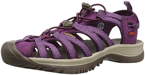 Keen Whisper, Sandalias de Senderismo Mujer, Rosa (Grape Kiss/Grape Wine Grape Kiss/Grape Wine), 36 EU