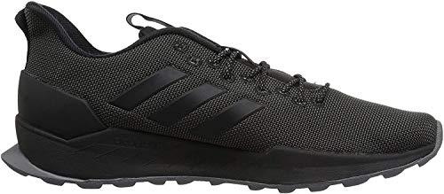 adidas Men's Questar Trail Running Shoe, Black/Black/Grey, 12 M US