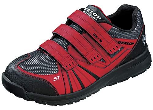 [DUNLOP MOTORSPORT] [ダンロップモータースポーツ] 作業靴 安全靴 セーフティスニーカー マグナムST306 (レッド, measurement_25_point_5_centimeters)