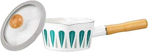 Sauce Pan with Glass Lid Milk Pot Stock Pot Multipurpose Pasta Pot Soup Pot for Home use and Restaurant (Color : White)