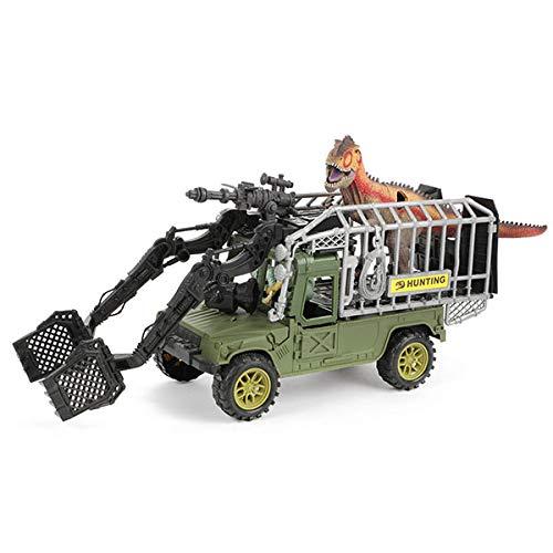 Toi-Toys 37502A World of Dinosaurs Spielset mit Dinos und Fahrzeug mit Ton
