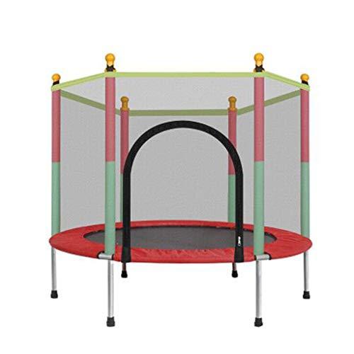 Kinderen trampoline, spring bedden for binnen en buiten, met veiligheidshek en net.Volwassen fitness trampoline, verjaardagscadeaus for jongens en meisjes, kinderspeelgoed