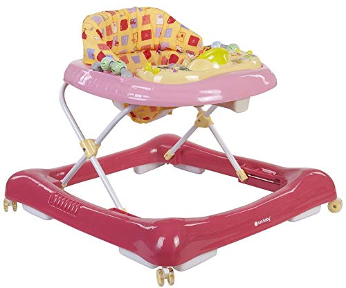 Sun Baby BG0209/R Lauflernwagen mit abnehmbarem Auto, Rosa, Mehrfarbig