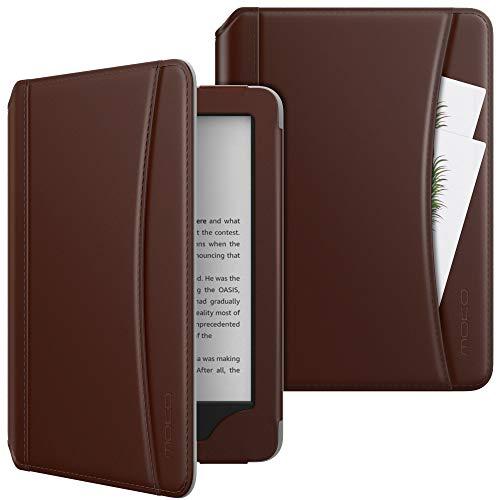 MoKo Funda Compatible con All-New Kindle (10th Generation, 2019) / Kindle (8th Generation, 2016), Ultra Slim Función de Soporte Smart Cover Case - Marrón