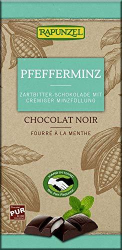 Zartbitter Schokolade mit Pfeffermi
