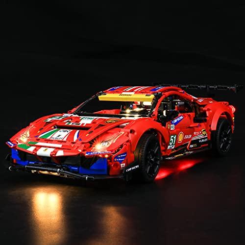 BRIKSMAX Kit de iluminación LED Lego Technic Ferrari 488 GTE AF Corse #51' - Compatible con Lego 42125 Building Blocks...
