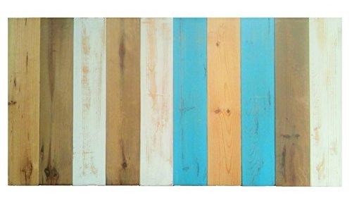 Cabecero Antiguo Recto Vertical Sam, Madera, Azul, 105x80x7cm, Incluye Kit Herrajes. Incluye Imán Personalizable de Regalo.