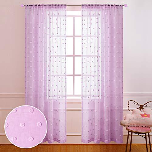 cortinas habitacion blancas y rosas
