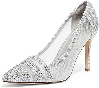 Dream Pairs Women?s High Heel Rhinestone Pointed Toe Pumps Shoes