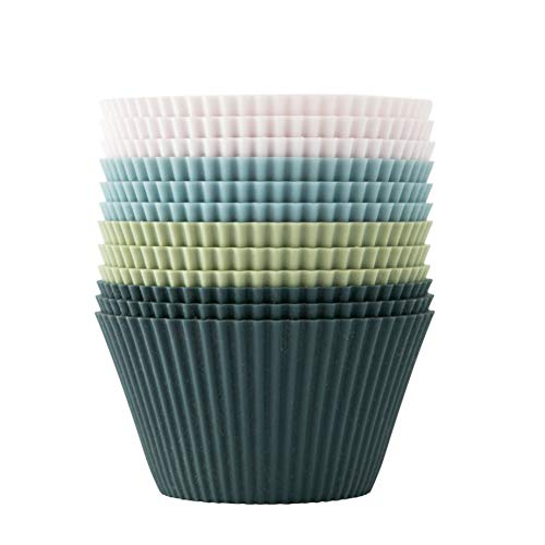 The Silicone Kitchen Reusable Silicone JUMBO Baking Cups | Non-Toxic | BPA Free | Dishwasher Safe