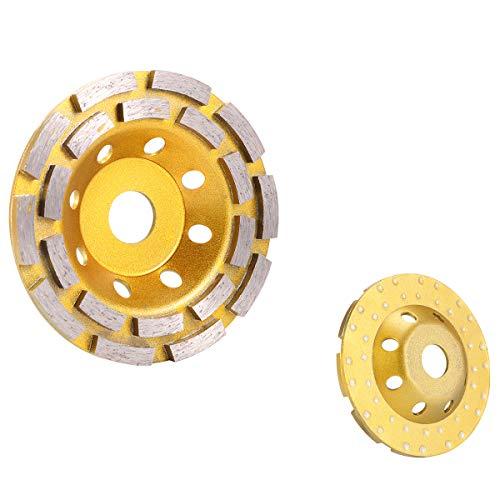 GGHKDD Bowl Sander Diamond - Disco abrasivo de 125 mm para amoladora de hormigón, piedra, cerámica, cemento y hormigón