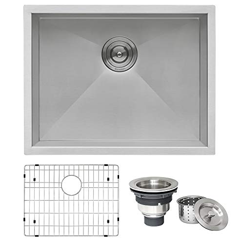 Ruvati 23-inch Undermount 16 Gauge Zero Radius Kitchen Sink...