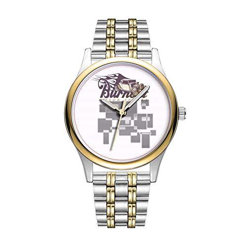 Personalisierte Minimalistische Burnout-Retro Car Watch Goldene Fashion wasserdichte Sportuhr