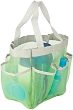 Honey-Can-Do Green Mesh Shower Caddy Tote - Portable, Quick Dry, Hanging Toiletries, Cosmetics and Bath Products Organizer...