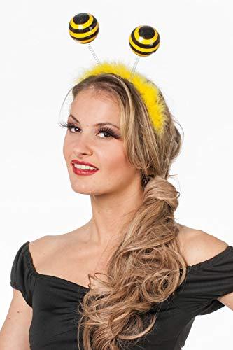 PARTY DISCOUNT ® Kopfbügel mit Bienenfühlern Haarreif Biene Karneval