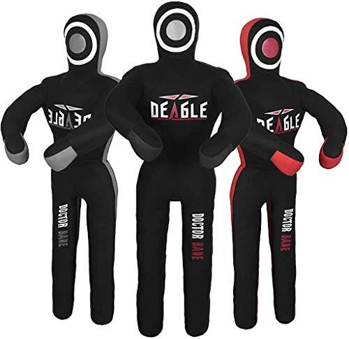 Deagle Doctor Bane MMA Grappling Submission Wrestling BJJ Dummy (Black, 6FT)
