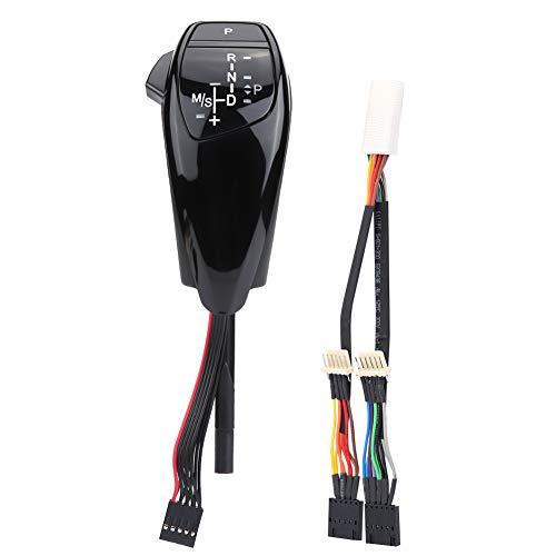 Pomello del cambio, LHD Leva del pomello del cambio automatico a LED per E90 E91 E93 E81 E82 E84 E87 E88 E89(Jet Black)