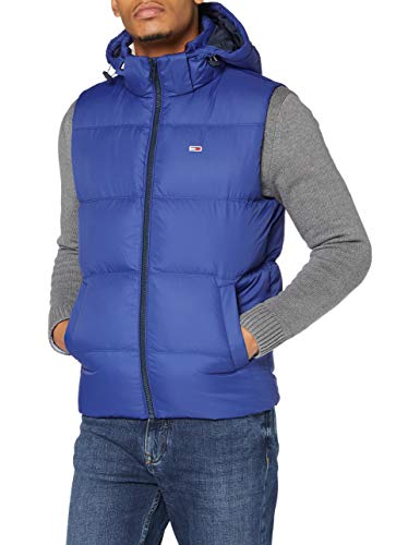 Tommy Jeans TJM Padded Down Vest Chaqueta, Azul (providence blue), XL para Hombre