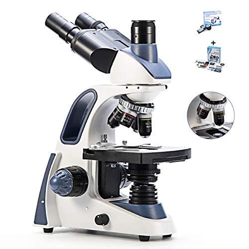 Microscopio Binoculare Stereo Composto, Lente Di Ingrandimento Per Microscopio Per Studenti, Ingrandimento 40X-2500X, Stage Meccanico, Messa A Fuoco Precisa, Oculari Grandangolari 10X E 25X