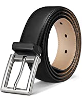 Mens Belt,Bulliant Genuine Leather Belt Adjustable for Men's Dress Jeans Golf Belt,Trim For Any Length