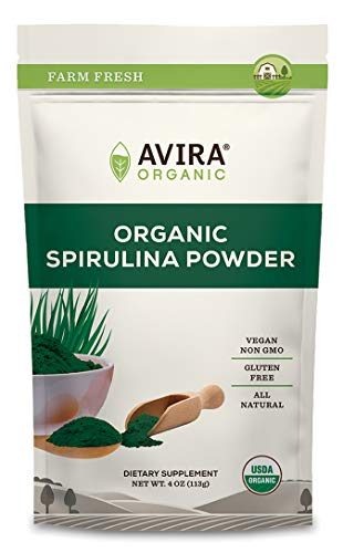Avira Organic ORGANICS Avira Organics Organic Spirulina Powder_4 4 Ounce Dark Green