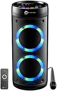 N-GEAR LPG26R Let's Go Party Enceinte Bluetooth avec microphone karaoké, LED disco, fonction Power Bank, Puissance 600 W (...