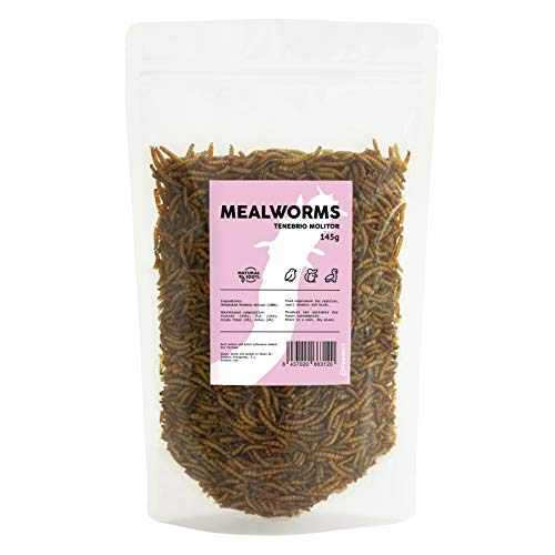Feedect Tenebrios Deshidratados 0.75 Litros - Alimento Completo para Aves y otros Animales - 100% Natural - Sin Conservantes - Envase Hermético